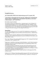 Einreichung Verfassungsbeschwerde gegen die Auflösung der ...