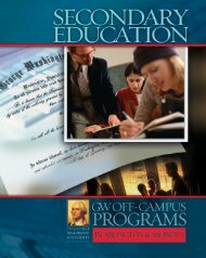 Secondary Education - Off-Campus Programs - The George ...