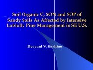 Soil Organic C, SON and SOP of Sandy Soils As Affected by ...