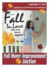 Fall Home Improvement - Advertiser Community News