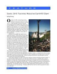 Sonic Drill Tackles Massive Earthfill Dam.pub - Sonic Drilling Ltd.