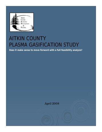AITKIN COUNTY PLASMA GASIFICATION STUDY - E-Democracy.org
