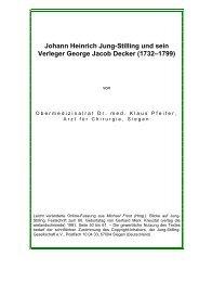 Johann Heinrich Jung-Stilling und sein Verleger George Jacob Decker