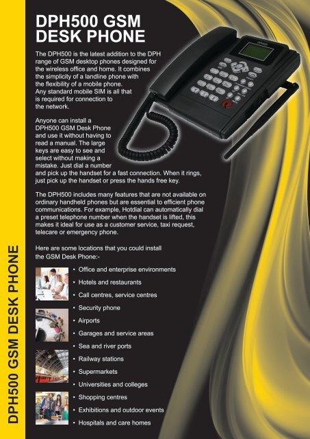 DPH500 GSM Desk Phone - Dual Band GSM ... - PMC Telecom