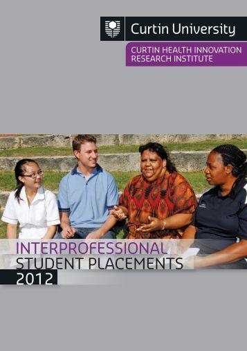 Interprofessional Student Placements 2012.pdf - Health Sciences ...
