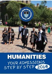 Humanities Admissions 2014 - Faculty of Humanities - The ...