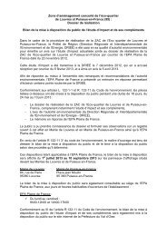 Zone d'aménagement concerté de l'éco-quartier de Louvres et ...