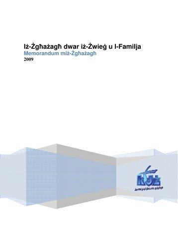Iż-Żgħażagħ dwar i ħ dwar iż-Żwieġ u l-Familja Familja