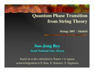 Quantum Phase Transition from String Theory