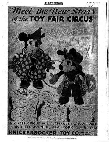 Disney Toy Ads - File 3 - Judy's Old Wood Toys