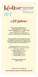 Programm-Download (PDF 2,7 MB) - Kultursommer Mittelhessen