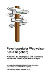 Psychosozialer Wegweiser - Kreis Segeberg - Stadt Kaltenkirchen