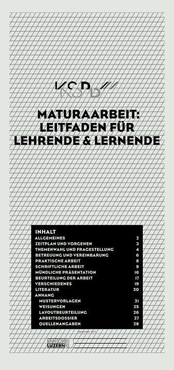 Leitfaden Maturaarbeit - Kantonsschule Beromünster