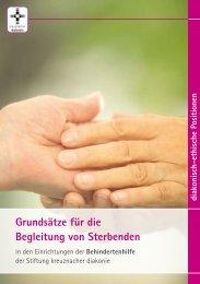 Grundsätze für die Begleitung von Sterbenden - Stiftung ...