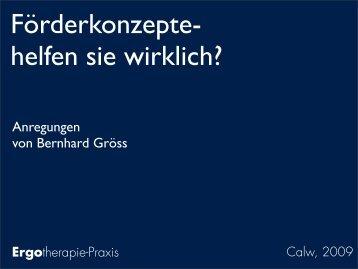Anregungen von Bernhard Gröss