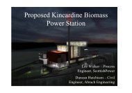 Proposed Kincardine Biomass Power Station presentation
