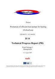 D 14 Technical Progress Report - ProHeatPump