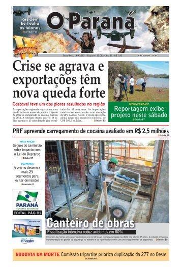 Crise se agrava e exportações têm nova queda forte - O Paraná