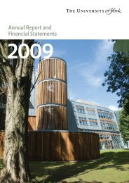 Annual Report and Financial Statements 2009 - University of York