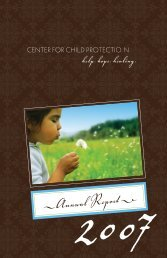 Annual Report  - Center For Child Protection