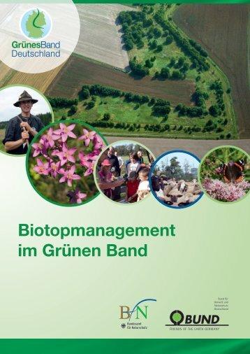 Biotopmanagement im Grünen Band - Grünes Band
