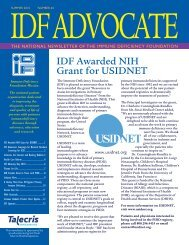 Number 64 – Summer 2010 - Immune Deficiency Foundation