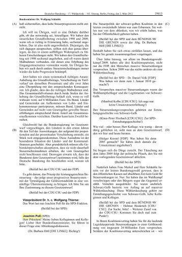 Redeprotokoll vom 2. 3. 2012 - Joachim Poß