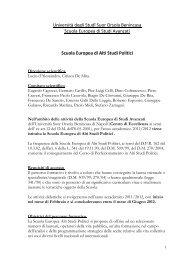 Scuola Europea di Alti Studi Politici - Istituto Universitario Suor ...