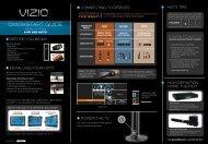 Quick Start Guide - Vizio