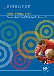 """""""EinblickE"""" - Werkgemeinschaft Wiesbaden eV"""