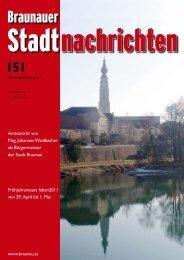 Anzeigenannahme für Braunauer Stadtnachrichten