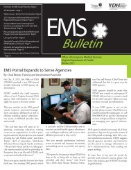 Elements for ems surge planning - Virginia Department of Health ...
