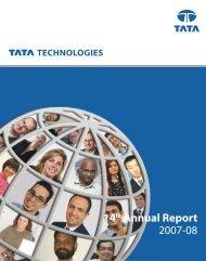 14 Annual Report 2007-08 - Tata Technologies