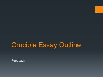 Crucible Essay Outline
