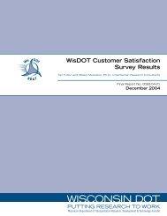 WisDOT Customer Satisfaction Survey Results - WisDOT Research