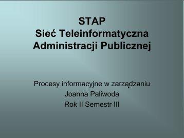 STAP Sieć Teleinformatyczna Administracji Publicznej