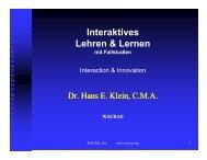 Interaktives Lehren & Lernen mit Fallstudien - wacra