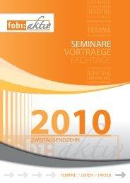 SEMINARE VORTRAEGE FACHTAGE - Stiftung Jugendhilfe aktiv