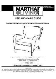 USE AND CARE GUIDE - Home Depot