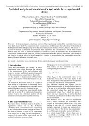 Statistical analysis and simulation of a hydrostatic force ...