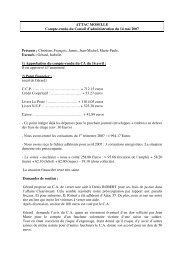 ATTAC MOSELLE Compte-rendu du Conseil d'administration du 14 ...