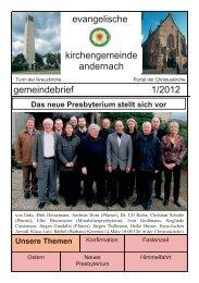 04.08.2012 Für Jugendliche im Alter von 13 - Evangelische Kirche ...