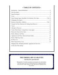 • TABLE OF CONTENTS • - Photographers' Formulary Inc.