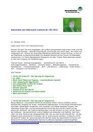Newsletter 08/2012_11.10.2012 - Odenwald-Institut