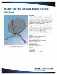 Model 1189 1.8m QD Quick Deploy Antenna - General Dynamics ...