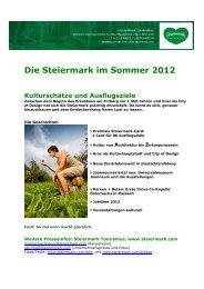 """""""Muss seen"""": Weitere Gustostückerln. - Presse - Steiermark"""