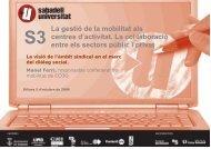 La visió de l'àmbit sindical en el marc del diàleg social. - Sabadell ...