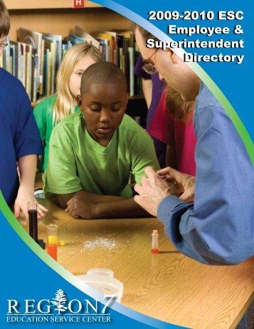2009-2010 ESC Employee & Superintendent Directory 2009-2010