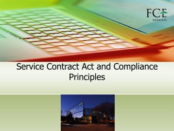 Service Contract Act and Compliance Principles - AbilityOne