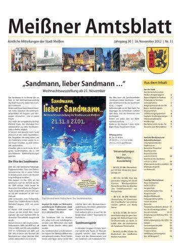 Amtsblatt Nr. 11 vom 16. November 2012 (pdf - Stadt Meißen